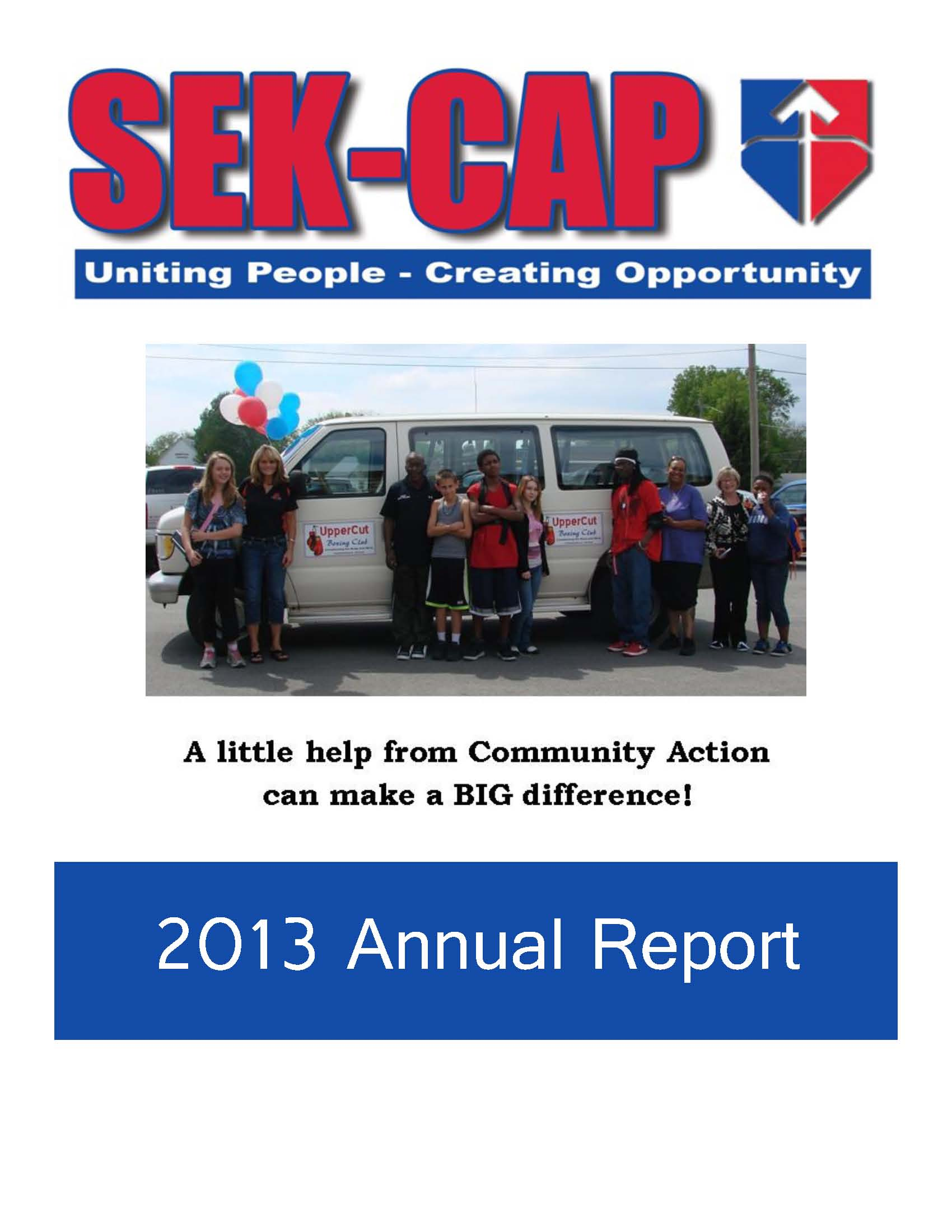 front page from 2013 annual report final