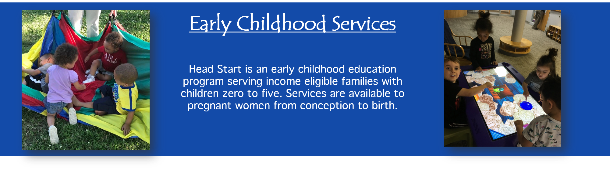 Early Childhood Services Header